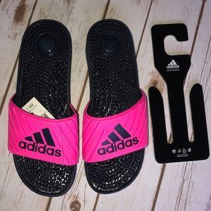 NWT - Adidas - Hot Pink & Navy massage slides - 8